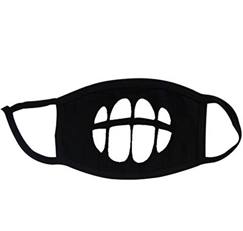 Super-Hunter-Outdoor-Protective-Cartoon-Teeth-Cotton-Face-Mouth-Mask-Suitable-for-Adults-2-Black