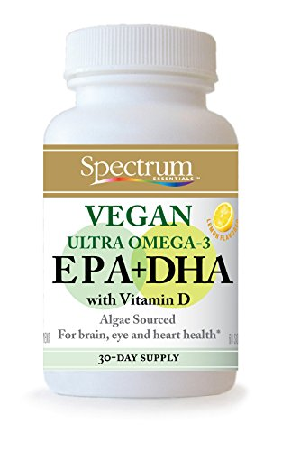 Spectrum Essentials Vegan Ultra Omega-3 EPA + DHA Softgels, 60 Count
