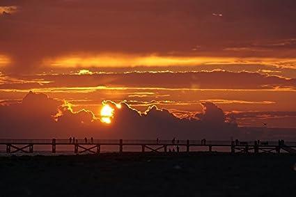 amazon com home comforts canvas print sunset colors clouds dusk