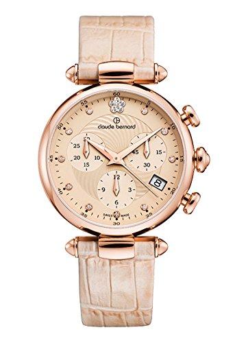 Claude Bernard Ladies-Wristwatch Dress Code Chronograph Date Quartz 10215 37R BEIR2