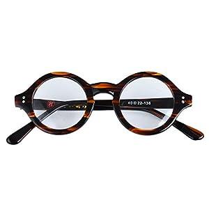 Agstum Handmade Small Round Optical Tortoise Shell Eyeglasses Frame 40mm