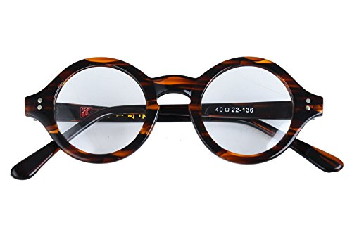 Agstum Handmade Small Round Optical Tortoise Shell Eyeglasses Frame - For Eyeglass Frames Faces Small