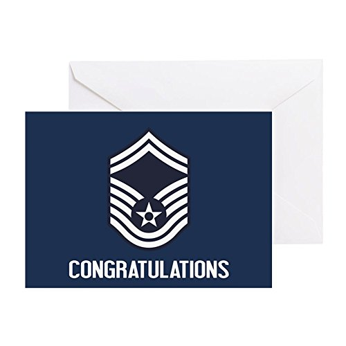 (CafePress - USAF Smsgt - Congratulations (Blue) - Greeting Card, Note Card, Birthday Card, Blank Inside Matte)