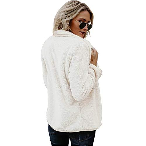 Casuale Cappotto Cappuccio Peluche Giacca Inverno Hoodie Invernale ❤ Cappotti Jacket Vicgrey Parka Bianco Moda Donna Autunno Cardigan Con 7xnqZ