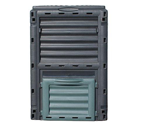 Dehner Thermo Komposter 300 Liter, ca. 80 x 65 x 65 cm, Kunststoff, schwarz/grün