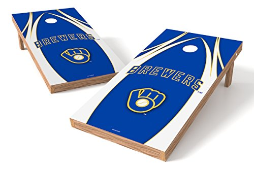 Wild Sports MLB Milwaukee Brewers V Design Tailgate Toss XL with Shield, Multi, 48