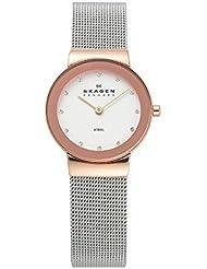 Skagen Womens 358SRSC Freja Stainless Steel Mesh Watch