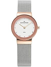 Women's Ancher Quartz Two-Tone Stainless Steel Mesh Casual Watch, Color: Rose Gold and Silver-Tone (Model: 358SRSC)