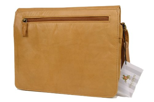 Visconti Bag Sand Atlantic 754 Organiser Body Kindle Leather Cross iPad frqfTZ