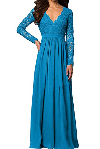 Topkleider mujer Vestido para oscuro azul trapecio 44 rq17z8r