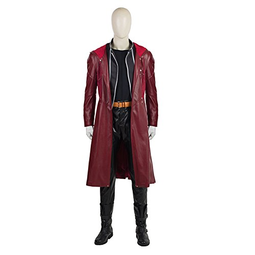 (YMCC Fullmetal Alchemist Halloween Costume Edward Elric Cosplay Red Full Suit (M,)