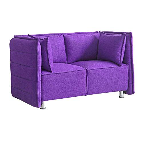 Fine Mod Imports FMI10186-purple Sofata Loveseat, Purple
