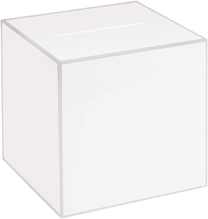 Kit Box Votaciones/200 x 200 x 200 mm Opal, cristal acrílico/Dona Caja/ranura Caja/sorteo parte Caja/urna/acrílico/Opal/lechoso/opaco/Aspecto de vidrio opalino – zeigis®: Amazon.es: Oficina y papelería