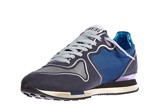 Golden Goose chaussures baskets sneakers femme en cuir running blu