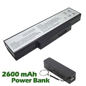 Battpit Bateria de repuesto para portátiles Asus N71Jq-X1 (4400mah / 48wh) con 2600mAh Banco de energía / batería externa (negro) para Smartphone