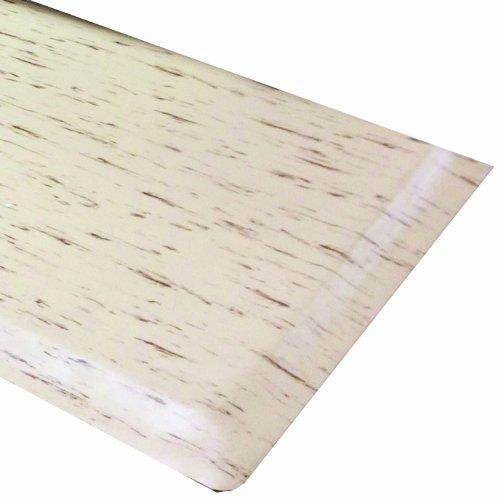 Rhino Mats TT-420T Marbleized Tile Top Anti-Fatigue Mat, 4' Width x 20' Length x 1/2'' Thickness, Tan by Rhino Mats