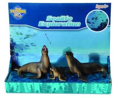 The Petting Zoo Sealife Exploration Toy Set (Sea Lion Family) (Stuffed Animal Lion Family)