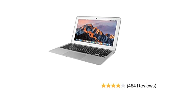 Apple MacBook Air MJVM2LL/A 11 6-Inch laptop(1 6 GHz Intel i5, 128 GB SSD,  Integrated Intel HD Graphics 6000, Mac OS X Yosemite (Renewed)