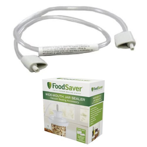 FoodSaver FAX12-000 Accessory Hose and Wide-Mouth Jar Sealer Bundle