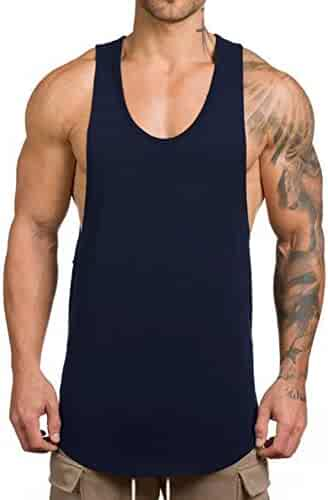 d54907562 Magiftbox Men's Muscle Gym Workout Stringer Tank Tops Bodybuilding Fitness T -Shirts T01