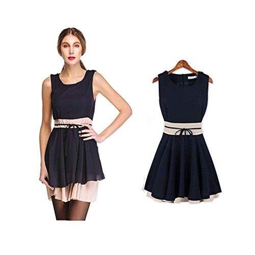 Zeagoo Damen Mini Kleid Elastische Top Rock clubwear Abendkleid ...