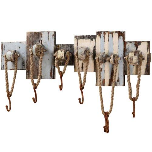 7 Hook Nautical Tool Rack