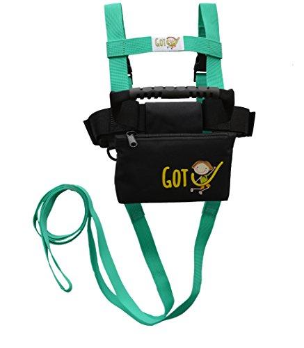 Got''U'' Kids Ski Harness - With Back Gripper & Clip-on Long Ski Leash by Skiweb