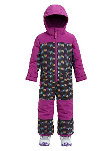 Burton Girls Minishred Illusion Onepiece, Eye Cat/Grapeseed, 4T