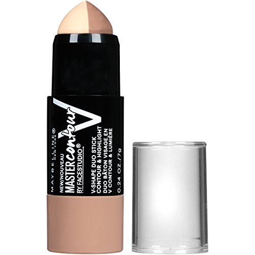 Stick Princess Duo - Maybelline New York Makeup Facestudio Master Contour V-Shape Duo Stick, Light Shade Contour Stick, 0.24 oz