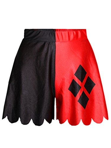 and YICHUN Donna relaxed Pantaloncini Black Red 5wrIwEq