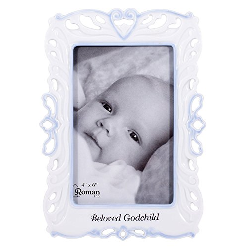 Precious Child of God White Porcelain Decorative Picture Frame, 8 Inch
