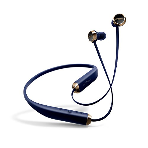 SOL REPUBLIC 1140-16 Shadow Wireless In-Ear Headphones with noise isolation and extended 8 hour battery,Navy/Gold