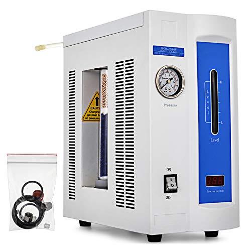 Happybuy High Purity Hydrogen Gas Generator 300ml Pressure Gauge 99.999% H2 Expel Oxygen Automatically 110V (Hydrogen Gas Generator Kit)