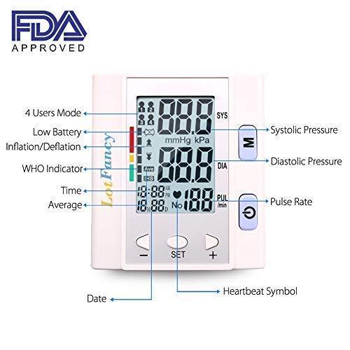 Wrist Pressure Monitor Sphygmomanometer User, FDA Approved