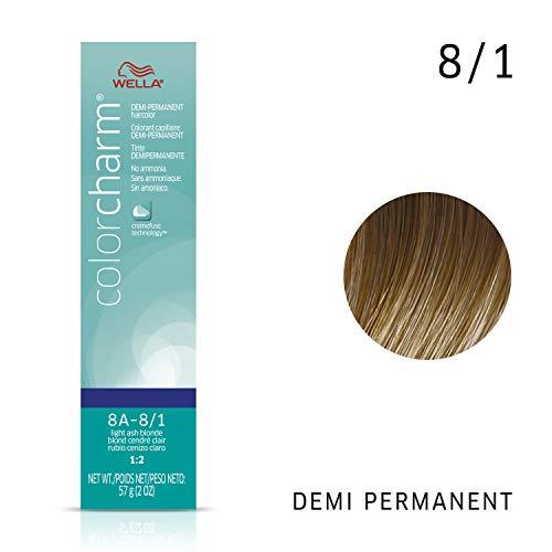 Wella Light Ash Blonde Demi Permanent Hair Color 8A-8/1 Light Ash Blonde, 2 oz (Demi Hair Color Blonde)
