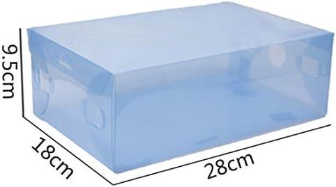 ZENUTA 5 x Cajas de Zapatos Transparente Plástico Caja Guarda Zapatos Cajones Almacenar Zapatos Almacenaje Apilables 28 x 18 x 9.5cm: Amazon.es: Hogar