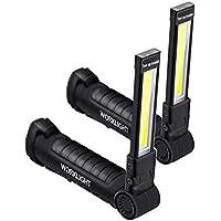 A0ZBZ COB-Led-werklamp, oplaadbaar, mini-inspectielamp met magneetvoet en haak, led-zaklamp voor huiswerkplaats op de…