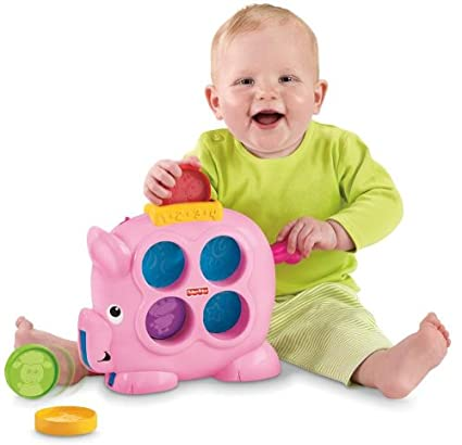 Amazon.com: Fisher-Price Brilliant Basics countin Fun Piggy ...
