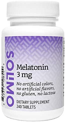 Amazon Brand - Solimo Melatonin 5mg, 150 Tablets, Five Month Supply