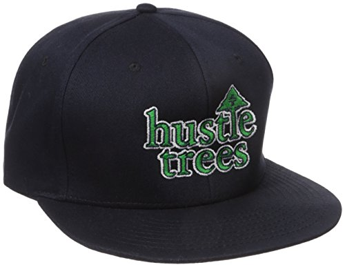 - Hustle Trees Men's Snapback, Navy, One Size