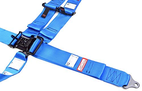Racerdirect.net Racing Harness 3'' V Roll Bar Mount 5 Point Latch & Link Safety Race Harness Blue by Racerdirect (Image #4)