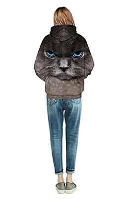 NEWCOSPLAY Unisex Harajuku Realistic 3D Digital Print Pullover Hoodie Hooded Sweatshirt Sweaters