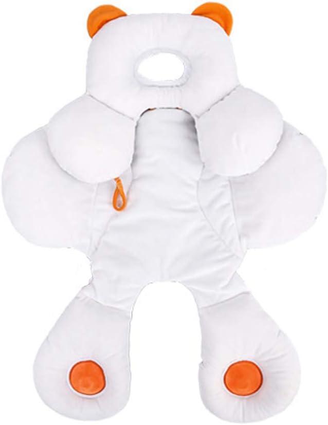 Inchant - Cojín de apoyo para la cabeza del bebé con algodón orgánico extra suave 2 en 1 para asiento de coche infantil de bebé, incluye género Nautral recién nacido regalo