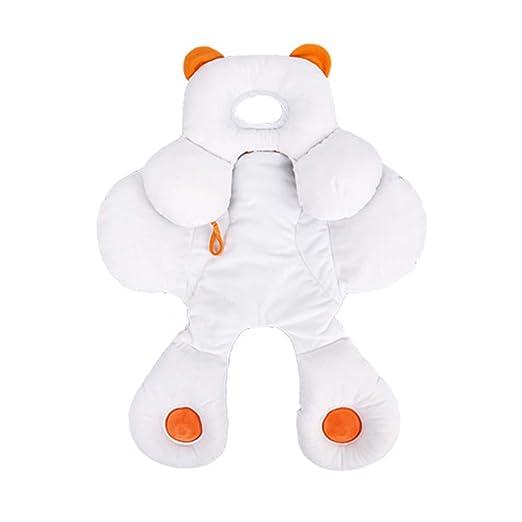 Baby 2 en 1 Reversible Head & Body Support para Cochecito/Asiento de Coche Desmontable Cuello Infantil Soporte con Algodón Orgánico Ajustable Cojín ...