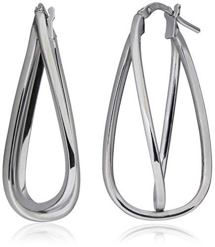 SilverLuxe Sterling Silver Interlocking Double Hoop 1.3