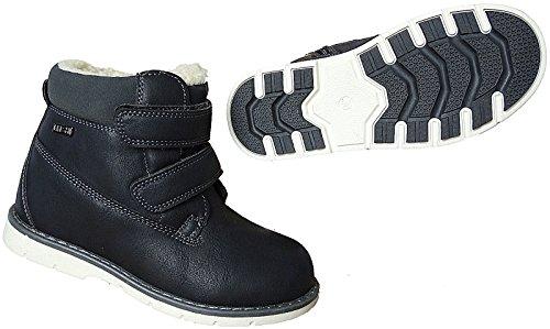 Jungen Boots Kinder Winter Schuhe Warmfutter Gr.26 - 31 Art.-Nr.2725 d.blau