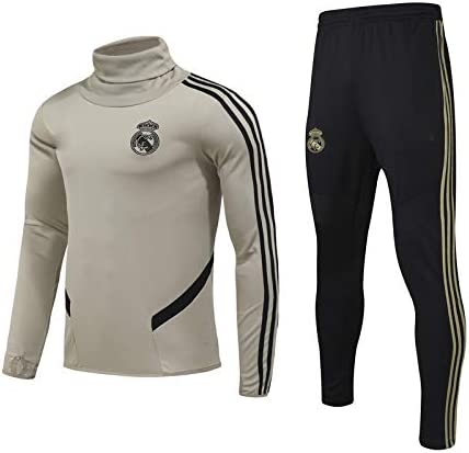 Trajes de Competencia LQRYJDZ 2020-2021 Real Madrid F/útbol Club de F/útbol Fans Jerseys y Pantalones Jogging Correr Ca/ída//Invierno Tops Pantalones Trajes de Entrenamiento para Deportes de Hombre op