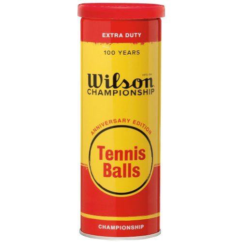Wilson Championship 100 Years Anniversary EditionTennis Balls with Metal Can and White Felt by Wilson