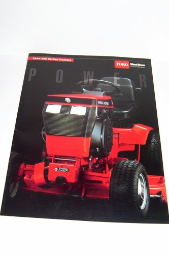 Toro Wheel Horse Lawn and Garden Tractors & Riding Mowers!!! Model 520-H, 312-8, 314-8, 416-8, 314-H, 416-H, 264-6, 264-H, 266-H Color Brochure