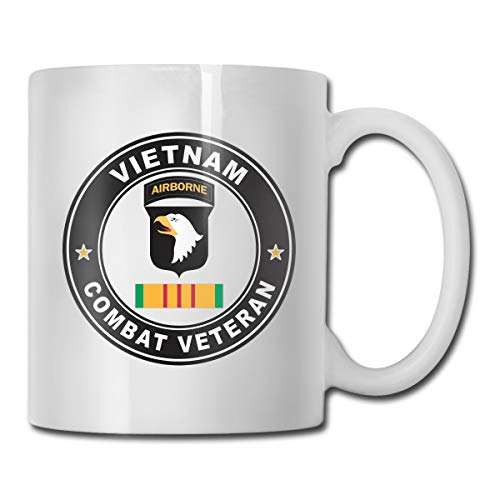 VRKKDCAP 101st Airborne Division Vietnam Combat Veteran Funny Novelty Gift Mug White Tea Brewing Cups